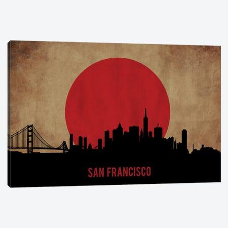 San Francisco Skyline Canvas Print #DUR918} by Durro Art Canvas Print