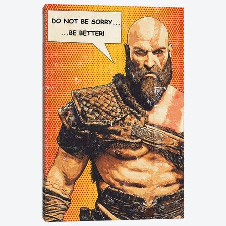 Kratos Popart Canvas Print #DUR937} by Durro Art Canvas Artwork