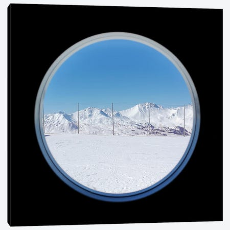 A Window To The Alps Canvas Print #DUS4} by Amadeus Long Canvas Wall Art