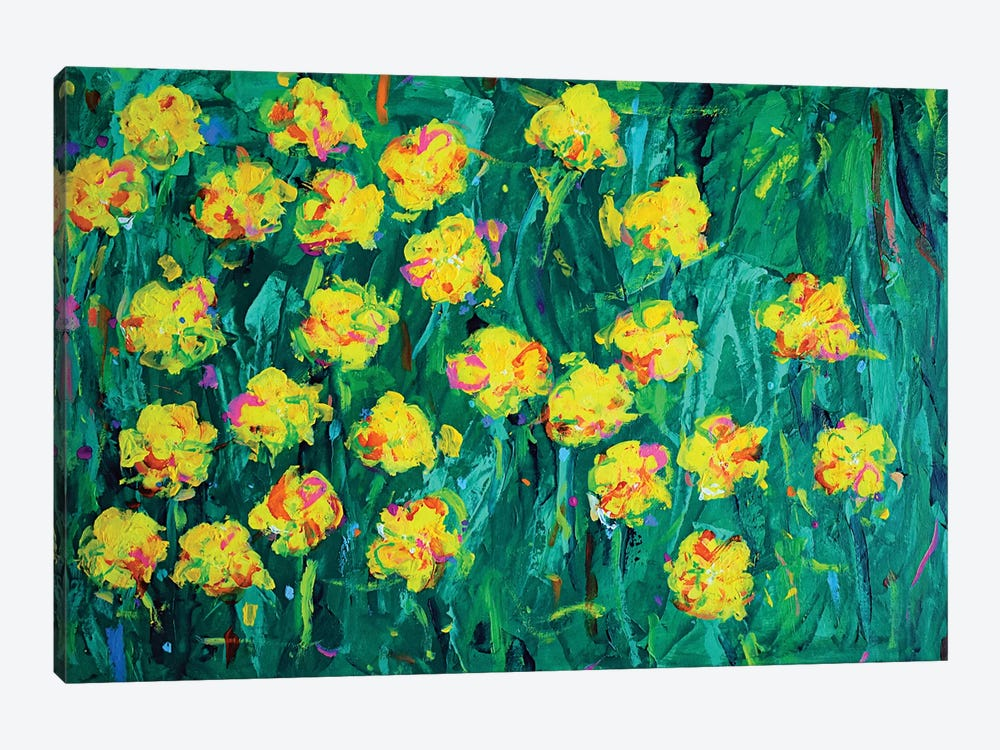 Buttercups by Dawn Underwood 1-piece Canvas Artwork