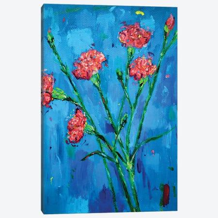 Carnations Canvas Print #DUW13} by Dawn Underwood Canvas Art