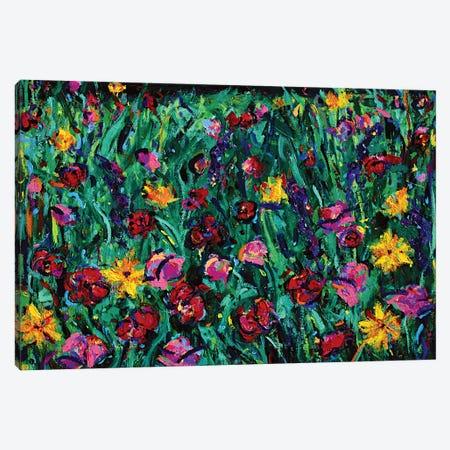 Floral Field Canvas Print #DUW14} by Dawn Underwood Art Print