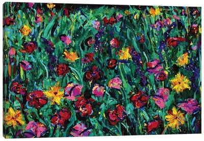 Floral Field Canvas Art Print