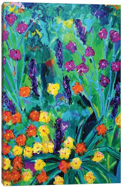 Flowers On Hampstead Heath Canvas Art Print