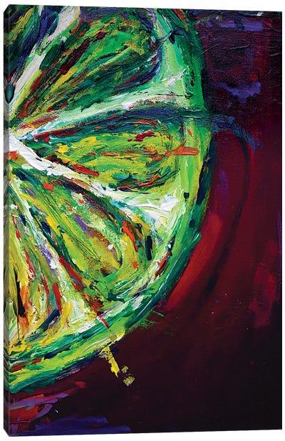 Lime Canvas Art Print