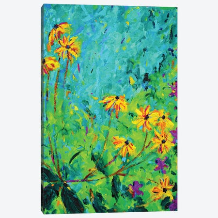 Yellow Flowers Canvas Print #DUW39} by Dawn Underwood Canvas Artwork