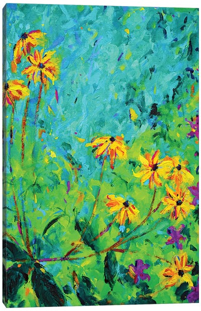 Yellow Flowers Canvas Art Print