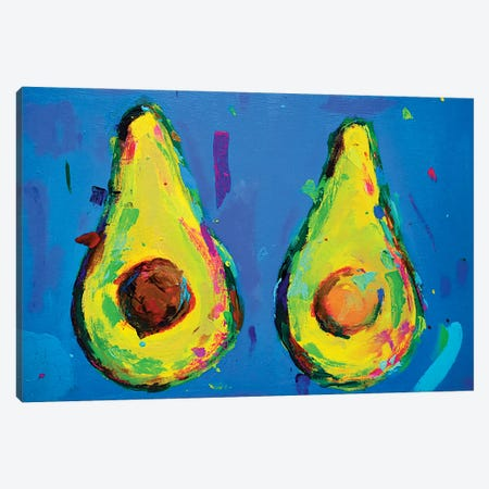 Avocado Halves Canvas Print #DUW5} by Dawn Underwood Canvas Artwork
