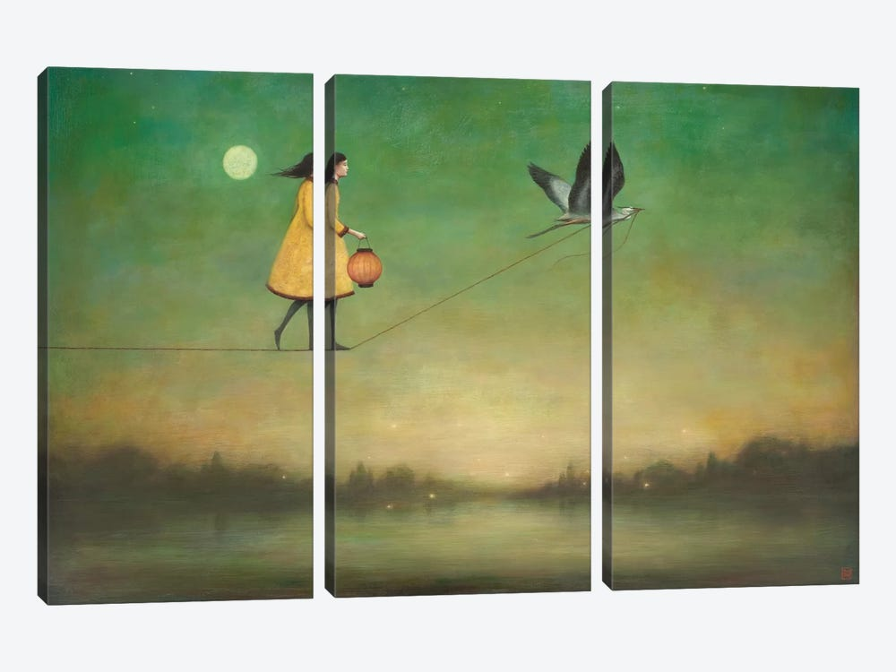 Blue Moon Expedition by Duy Huynh 3-piece Canvas Wall Art