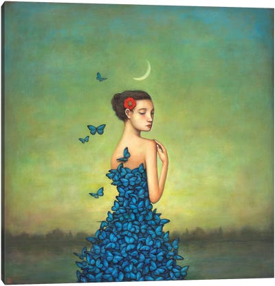 Metamorphosis In Blue Canvas Art Print
