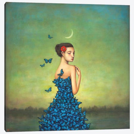 Metamorphosis In Blue Canvas Print #DUY4} by Duy Huynh Canvas Wall Art