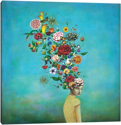 A Mindful Garden Canvas Art Print