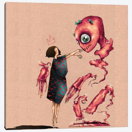 Conjuring A Best Friend Canvas Print #DVA10} by DEMÖ Canvas Art