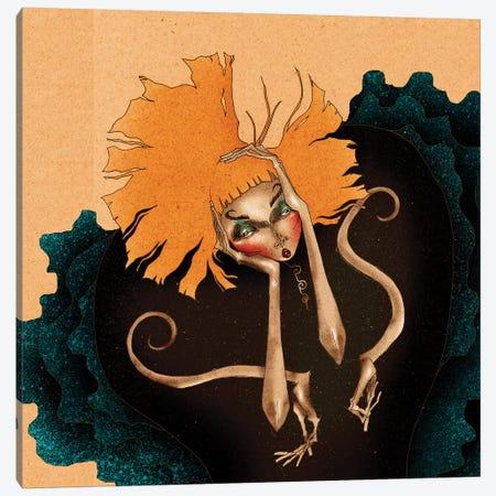 Daisy´s Frustration Canvas Print #DVA11} by DEMÖ Canvas Wall Art