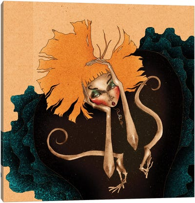 Daisy´s Frustration Canvas Art Print