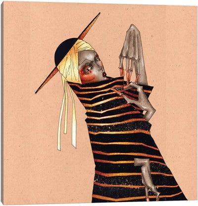 Gold Stripes Canvas Art Print