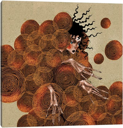 Golden Spirals Canvas Art Print