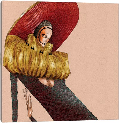 Hypnotic Sombrero Canvas Art Print