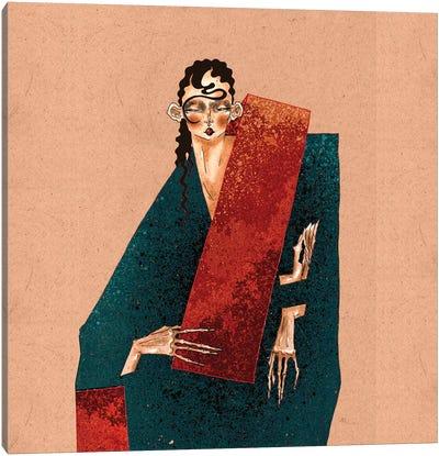 Red Stripe Canvas Art Print