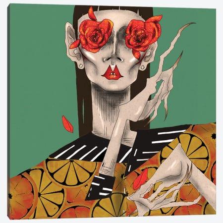 Rose Eyes Canvas Print #DVA45} by DEMÖ Canvas Wall Art