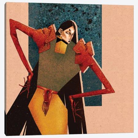 Scarlet Gloves Canvas Print #DVA48} by DEMÖ Art Print