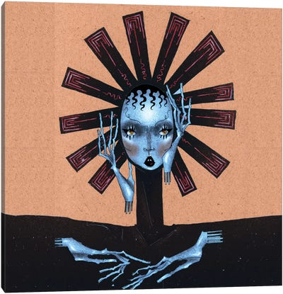 Blue Dalia Canvas Art Print