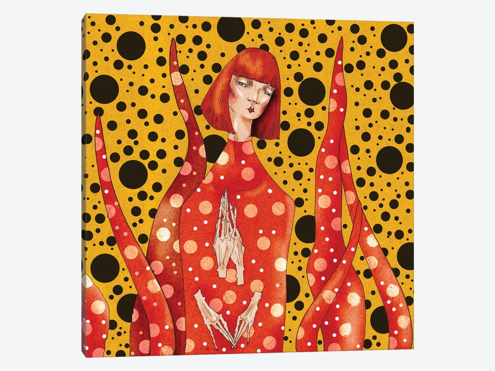 Yayoi Kusama by DEMÖ 1-piece Art Print