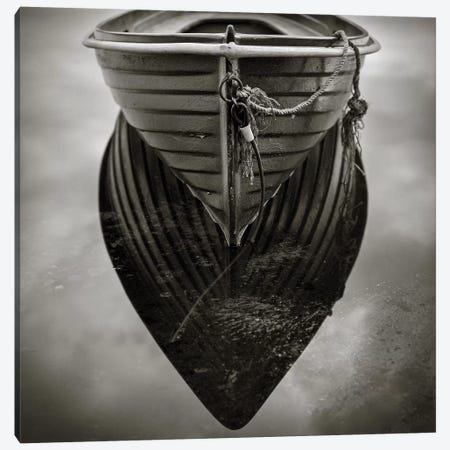 Boat Reflection Canvas Print #DVB13} by Dave Bowman Canvas Print
