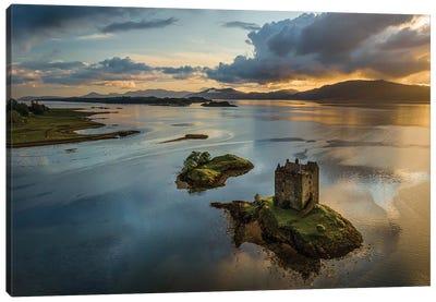 Castle Stalker Sunset Canvas Art Print