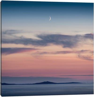 Crescent Moon Over North Uist Canvas Art Print