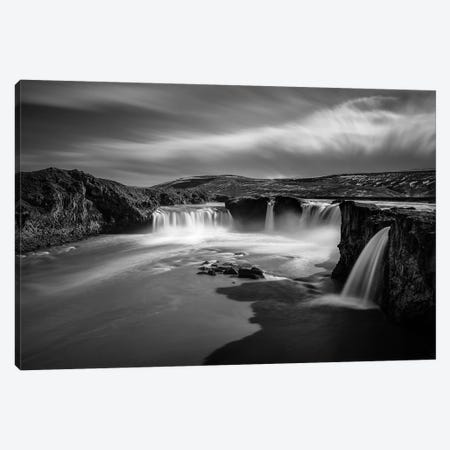 Goðafoss Canvas Print #DVB29} by Dave Bowman Canvas Wall Art