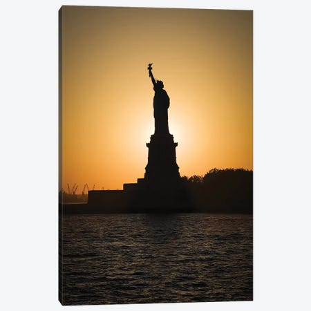 Liberty Sunset Canvas Print #DVB37} by Dave Bowman Canvas Wall Art