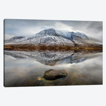 Loch Etive Reflection Canvas Print #DVB40} by Dave Bowman Canvas Art