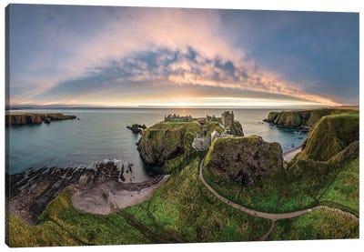 Path To Dunnottar Castle Canvas Art Print