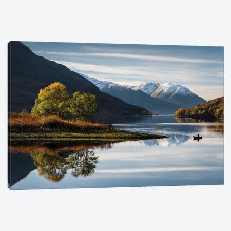 Autumn On Loch Leven Canvas Print #DVB6} by Dave Bowman Art Print