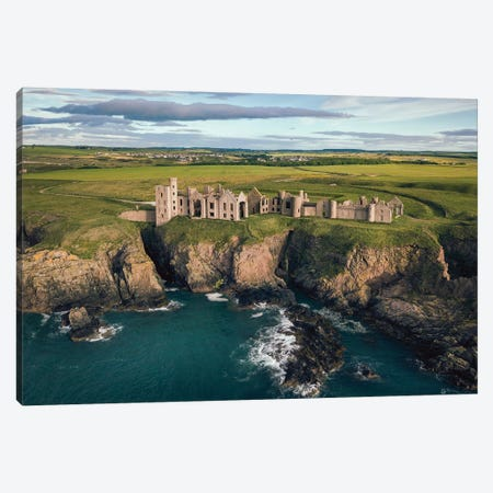 Slains Castle Canvas Print #DVB78} by Dave Bowman Canvas Print