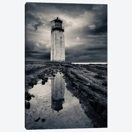 Southerness Lighthouse Canvas Print #DVB80} by Dave Bowman Canvas Artwork