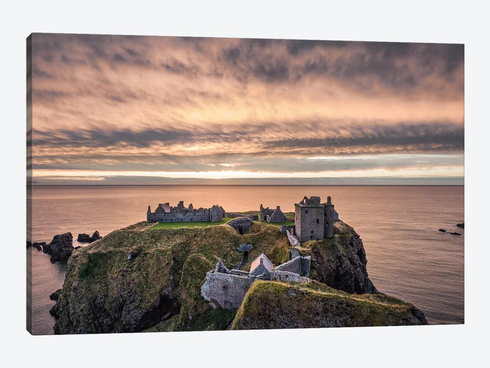 Sunrise Over Dunnottar by Dave Bowman 1-piece Canvas Artwork