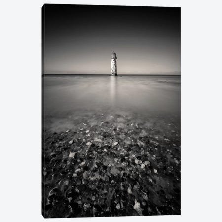 Talacre Lighthouse Canvas Print #DVB87} by Dave Bowman Art Print