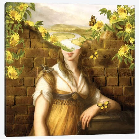 Wandering Mind - Woman 3-Piece Canvas #DVE101} by Diogo Verissimo Canvas Wall Art