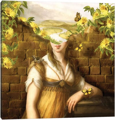 Wandering Mind - Woman Canvas Art Print