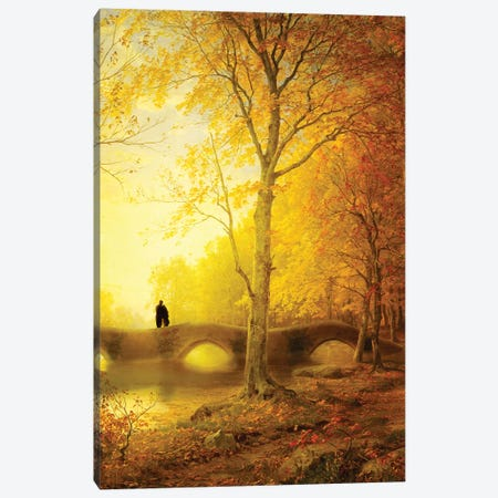 Sunset Walk Canvas Print #DVE106} by Diogo Verissimo Art Print