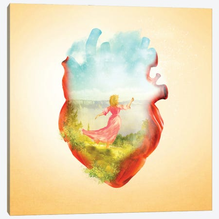 Dancing Heart Canvas Print #DVE107} by Diogo Verissimo Art Print