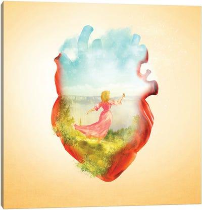 Dancing Heart Canvas Art Print