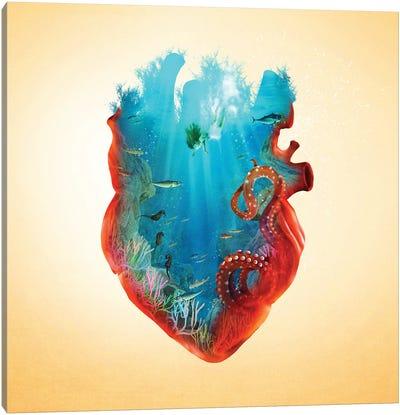 Diving Heart Canvas Art Print