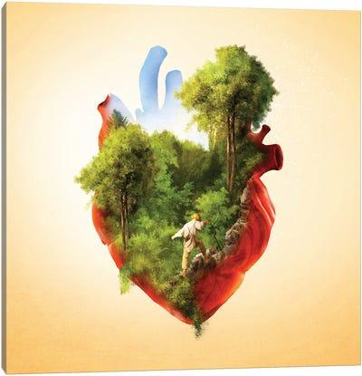 Exploring Heart Canvas Art Print