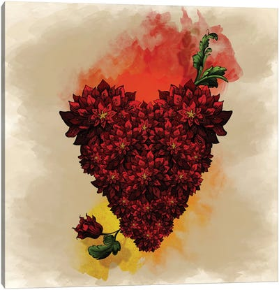Blooming Heart Canvas Art Print