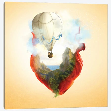 Floating Heart Canvas Print #DVE110} by Diogo Verissimo Canvas Art Print