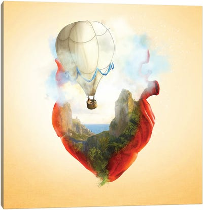 Floating Heart Canvas Art Print
