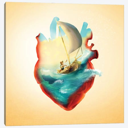 Sailing Heart Canvas Print #DVE111} by Diogo Verissimo Canvas Art Print